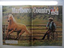 1982 Print Ad Marlboro Man Cigarettes ~ Western Cowboy Rein in the Horse