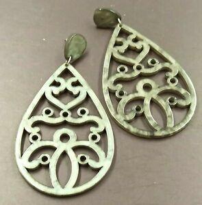 grandi orecchini di design goccia plexiglass acrilico - design acrylic earrings