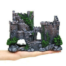 Fish Tank Artificial Resin Rock Cave Ancient Castle Aquarium Decoration House
