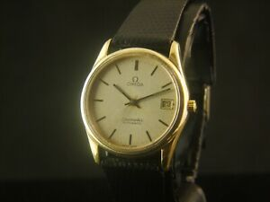 OMEGA Seamaster Automatic Date Cal.1110 21J Gold Tone Thin Case  Swiss 166.0281