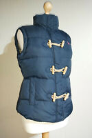 Jack Wills Duck Down & Feather Jute Toggle Duffle Gilet Ladies UK 12 Navy Blue