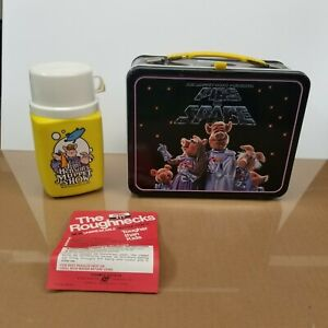 Thermos The Muppets Pigs In Space (Vintage Lunch Box)1977 Jim Henson W/ Thermos