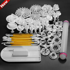 47Pcs Cake Sugar Candy Decor Mould Fondant Plunger Pastry Tool Mold Cutter Craft