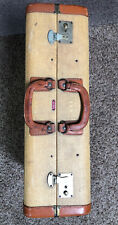 VINTAGE 1940's Roebling Luggage corp NY travel Suitcase 24x18
