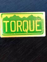 Collectible Vintage Torque Colorful Metal Pinback Lapel Pin Hat Pin