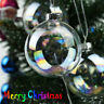 6cm Clear Iridescent Glass Ball Christmas Ornament Wedding Baubles Hom