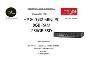 HP EliteDesk 800 G2 Mini Desktop PC i7 6th Gen Quad Core 8GB RAM and 256GB SSD