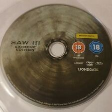 Saw III (2007) Extreme Edition DVDTobin Bell Leigh Whannell CD Disc Only 1697