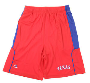 Majestic MLB Youth Texas Rangers Batters Choice Shorts, Red