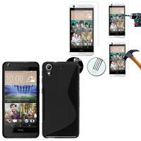Etui Coque Housse TPU Silicone Gel HTC Desire 626/ 626s  + 1 Film Verre Trempe
