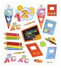 Design Sticker Schulanfang 123 Schulheft Schultüte Einschulung Karten basteln