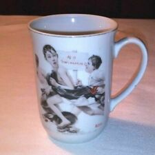 """Norman Rockwell Coffee Cup """"No Swimming"""" The Saturday Evening Post"""
