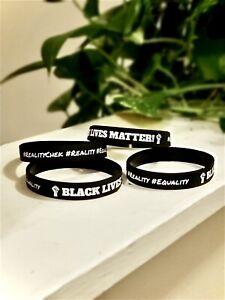 Black Lives Matter Silicone Wrist Band Bracelet Wristband