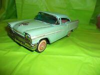 RARE VINTAGE ICHIKO 1958 OLDSMOBILE 98 TWO TONE GREEN TIN FRICTION TOY CAR!!