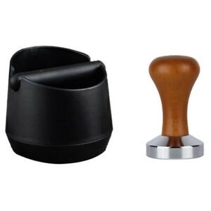 Coffee Grind Knock Box and Coffee Tamper for Espresso Machine Shock-AbsorbeV5D5