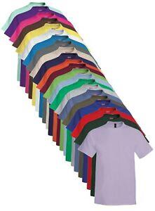 Hanes USA Uomo Cotone Tinta Unita Beefy Pesante Maglietta T-Shirt S - 6XL