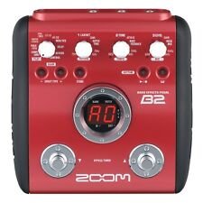 ZOOM B2 BASS GUITAR MULTI EFFECTS PEDAL WITH INBUILT DRUM MACHINE & POWER SUPPLY
