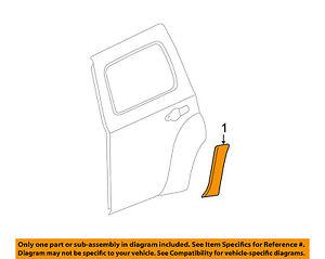 Chevrolet GM OEM 08-11 HHR Exterior-Rear-Decal sticker Right 25791044