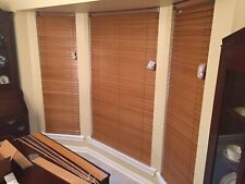 "Genuine Solid Wood 2"" Wide Slat Window Blinds -SET OF (3) -Bali-Northern Heights"