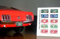 1970 - 1974 FLORIDA miniature LICENSE PLATES for 1/25 scale MODEL CARS