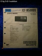 Sony Service Manual ICF M50RDS Radio (#5520)