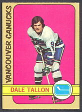 1972 73 OPC O PEE CHEE HOCKY 121 DALE TALLON CANUCKS NM