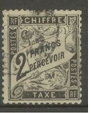 "FRANCE STAMP TIMBRE TAXE N° 23 "" TYPE DUVAL 2F NOIR "" OBLITERE A VOIR"