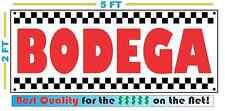 BODEGA Banner Sign Vintage for Neighborhood Gas Station Convenience Food Store