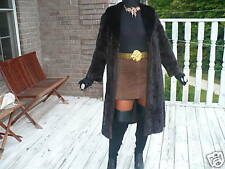 Swing Full Length Female Pelt Mink Fur coat jacket S-M