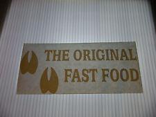 THE ORIGINAL FAST FOOD VINYL STICKER