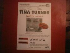 "TINA TURNER - PLAN MEDIA / PRESS KIT ""WHATEVER YOU WANT"""