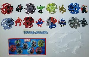 MARVEL AVENGERS COMPLETE SET WITH ALL PAPERS KINDER SURPRISE 2019