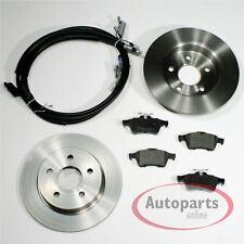 Ford Focus II 2 - Discos de Freno Pastillas Cables para Trasero Eje