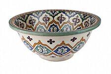 Essouira dipinti a mano in ceramica marocchina bacino lavandino del bagno-Tondo, di 40 H16 cm