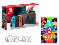 NINTENDO SWITCH Consola Azul/Rojo Neón 32Gb + 1-2 Switch