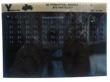 Yamaha YFM600 1999 Grizzly YFM600FWAL Parts List Manual Microfiche s38
