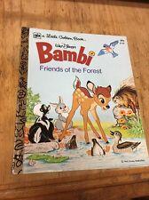 Little Golden Book; Walt Disney's Bambi Friends of the Forest 1978