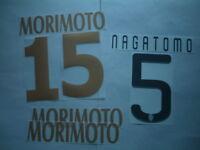 KIT NOME+NUMERO UFFICIALI NAGATOMO/MORIMOTO OFFICIAL NAMESET PLAYER SZ