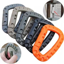 D9B2 10Pcs New Plastic Carabiner KeyChain Key Hook Clip Hiking Safety Buckle