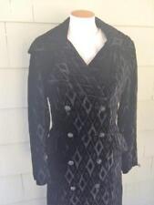 Vtg 60s diamond cut velvet steampunk goth long coat - sm/med
