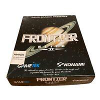 "Frontier Elite 2 Amiga 3.5"" Disk Inc Star Chart/Map Konami Retro Gaming Untested"