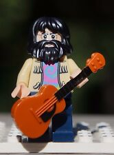 Genuine LEGO Jerry Garcia Grateful Dead Hippie Minifigure w/ Acoustic Guitar