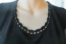 VINTAGE Style ~ Black/Beads ~ JUMPER/CARDIGAN SET * Size M *REDUCED !!