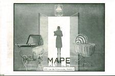 Publicité ancienne landau berceau Mape 1946 issue de magazine