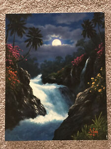 Anthony Casay 'Wainnini Falls'- original oil on canvas