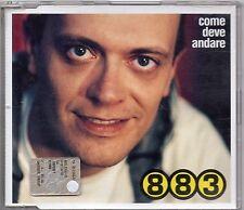MAX PEZZALI 883 CD SINGLE 3 tracce MADE in ITALY Come deve andre 2001