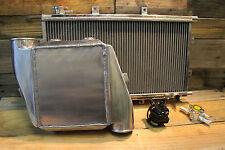 Aluminium Water To Air Intercooler Kit Drag Series 2 W/ Inline Filler Neck