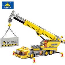 City builders crane 380pcs Construction block set works with Lego 8045
