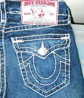 *HOT USA Men's TRUE RELIGION JOEY SUPER T -WH FLARE BOOTCUT Denim Jeans 31 x 31