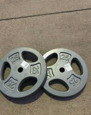 🛑🔥25 Lb Pound 1 Inch Plate Weight Set/2(Total 50lb)New For Barbell/Home Gym🔥